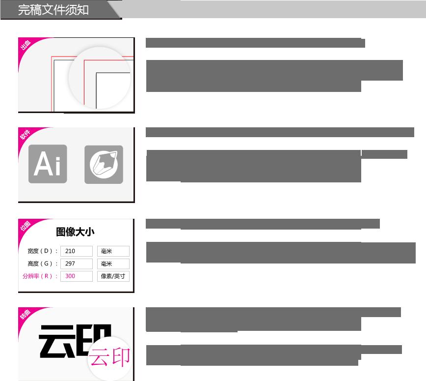 喷绘海报印刷、制作下单流程图。ininin_note
